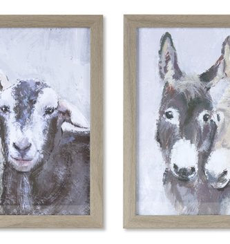 Barnyard Friends Framed Print (2-Styles)