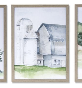Framed Gray Barn Print (3-Styles)