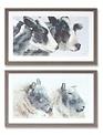 Rectangular Framed Barnyard Animal Print (2-Styles)