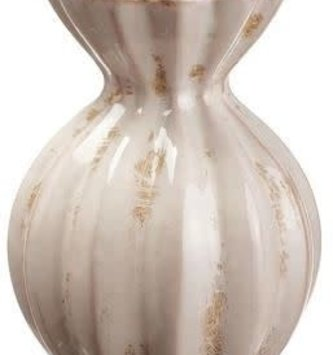Distressed Cream Ceramic Vase