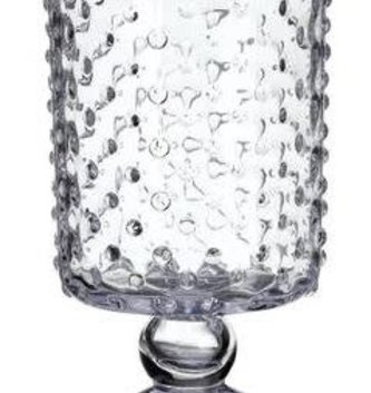 Dotted Pedestal Glass Vase