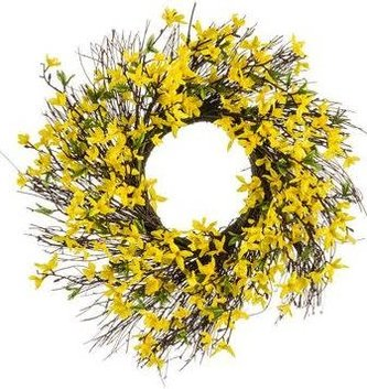 Twig Forsthia Wreath
