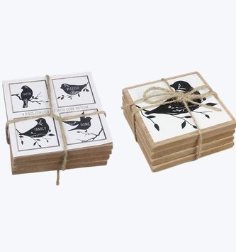4-Piece Bird Coaster Set