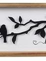 Metal Bird on Branch Framed Sign (2-Styles)