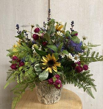 Custom Wildflower & Clover Arrangement