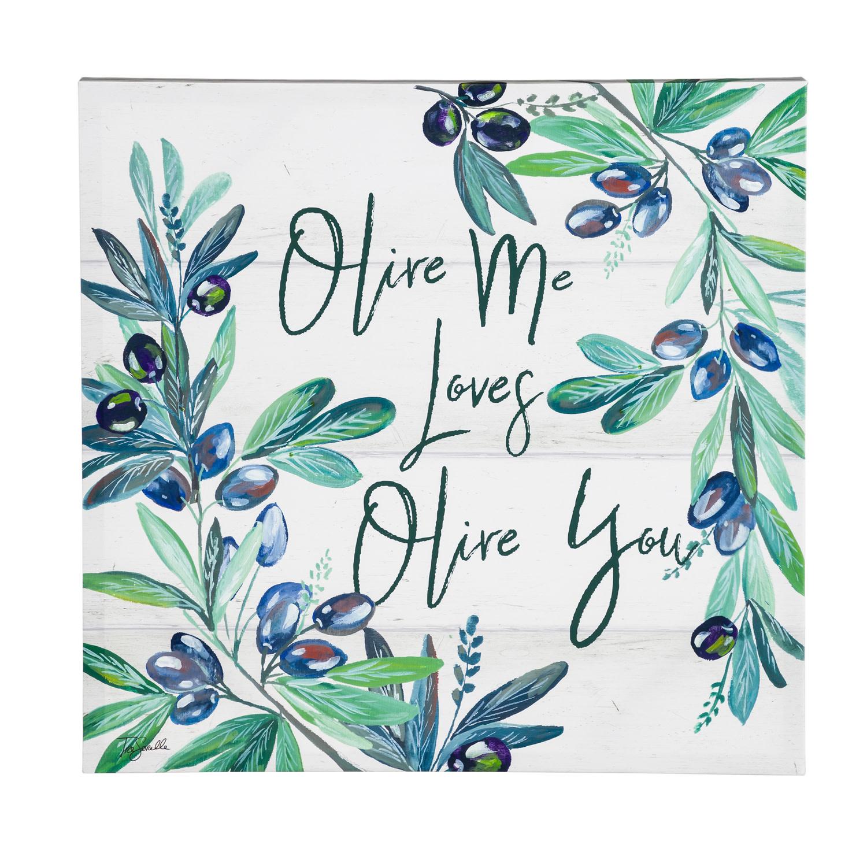 Olive Me Loves Olive You Canvas