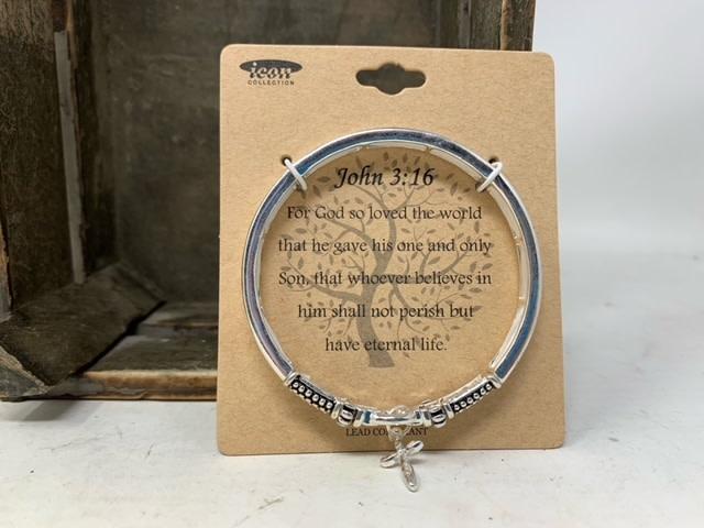 Silver Inspirational Bracelet (3-Styles)