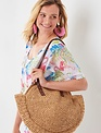 Large Round Woven Handbag