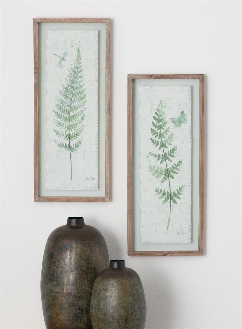 Framed Forest Fern Print (2-Styles)