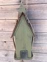 Rustic Twig Green Birdhouse (2-Sizes)