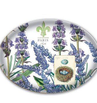 Michel Design Works Lavender Glass Soap Dish