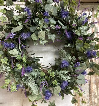 Custom Lavender & Eucalyptus Wreath