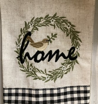 Embroidered Home Kitchen Towel