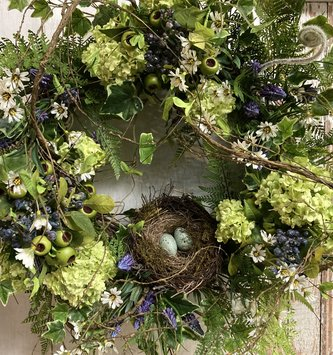 Custom Twig Nest Wreath