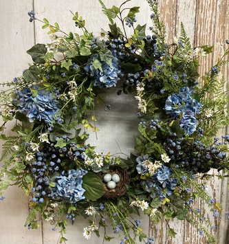 Blueberry Nest Wreath