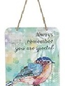 Hanging Inspirational Watercolor Sign (12-Styles)