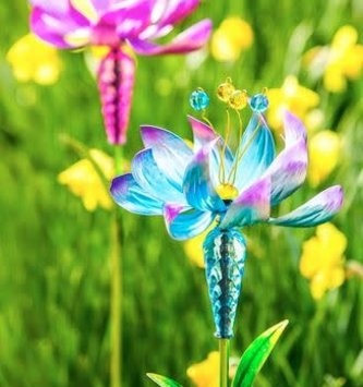 Flower Garden Wind Spinner Stake (2-Colors)
