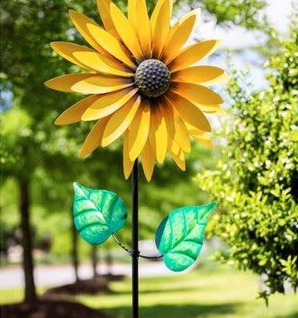 Golden Sunflower Wind Spinner