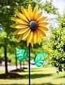 Golden Sunflower Wind Spinner