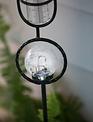 Crackle Ball Solar Rain Gauge Stake