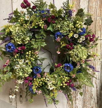 Allys Custom Meadow Wreath