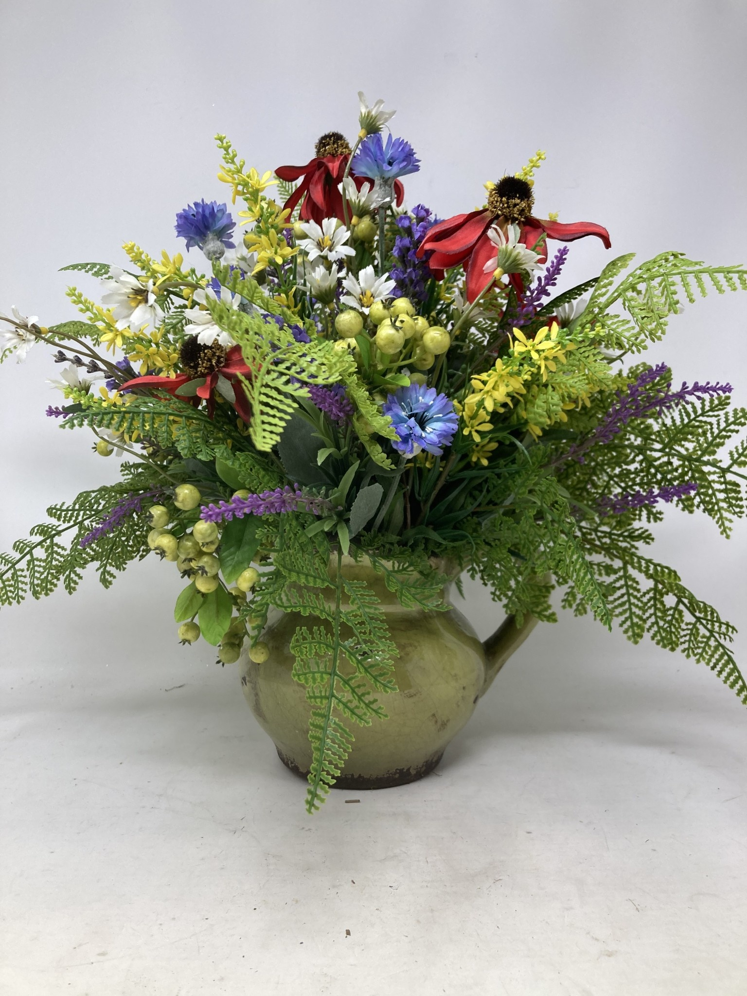 Small Custom Wild Mix In Green Pitcher