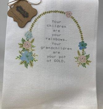 Your Grandchildren Are Your Rainbow Tea Towel
