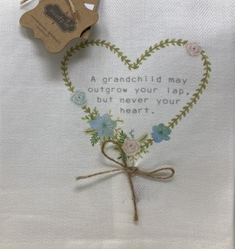 A Grandchild Heart Tea Towel