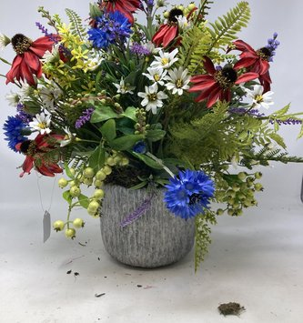 Custom Wild Mix In  Tree Trunk Container