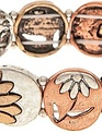 Multi Metal Flower Bracelet