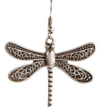 Large Fancy Wing Dragonfly Earrings