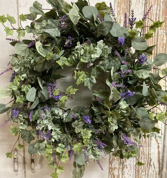 Custom Lavender Eucalyptus Wreath
