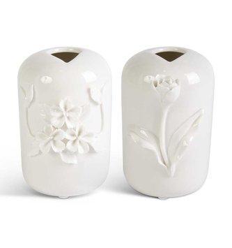 Raised Floral Ceramic Vase (2-Styles)