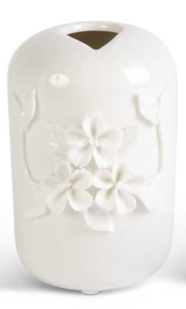Raised Floral Ceramic Vase (2-Styles)