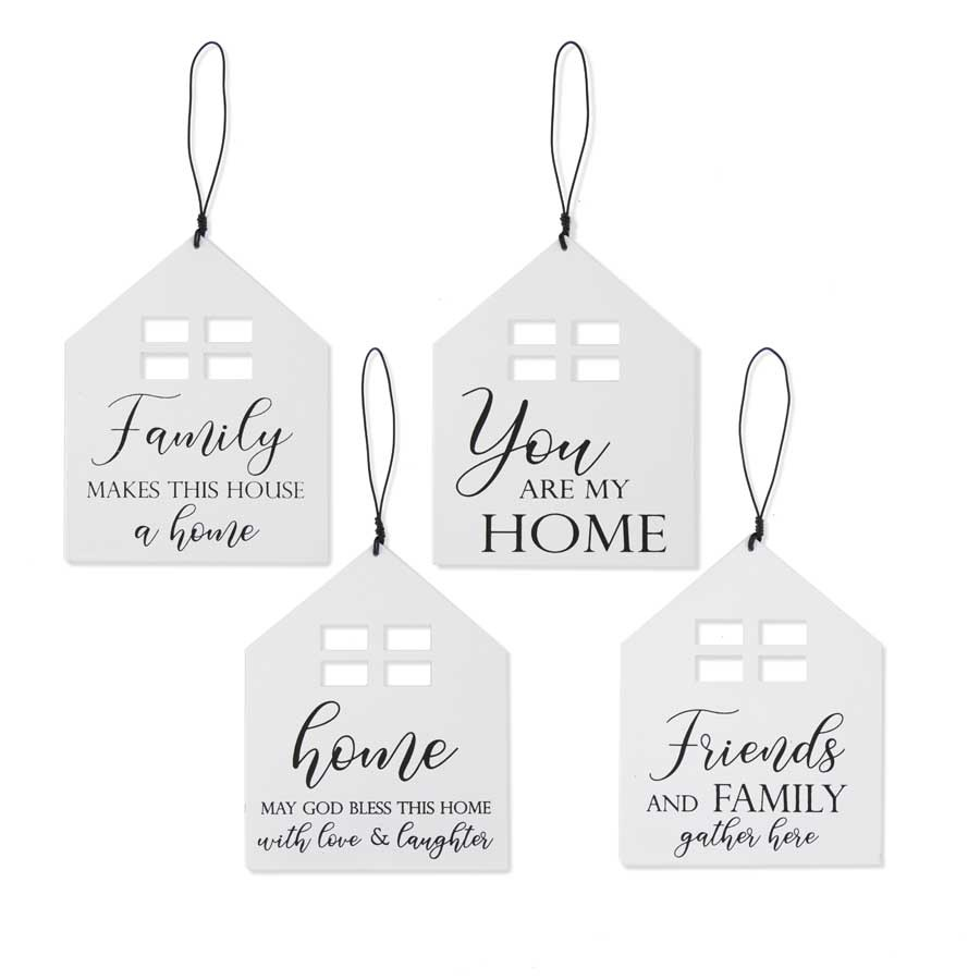 Metal Home Message Signs (4-Styles)