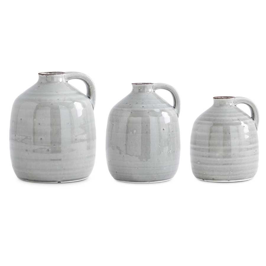 Ceramic Gray Jug With Handle (3-Sizes)