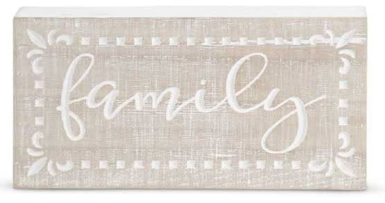 Whitewashed Inspirational Wooden Sign (3-Styles)