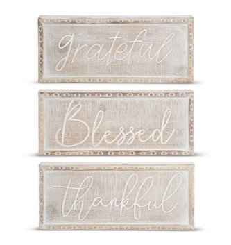 Whitewashed Beaded Sign (3-Styles)