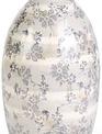 Gray/Cream Stripe Floral Vase (4-Styles)