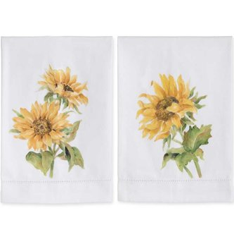 Hand Painted Sunflower Tea Towel (2-Styles)