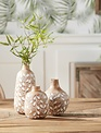 Set of 3 Boxwood Leaf Vases