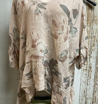 Floral Linen Blouse (2-Colors)