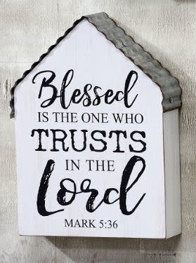 Galvanized Roof Bible Verse Sign (3-Styles)