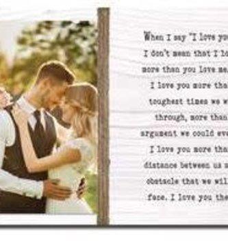 I Love You More Photo Frame
