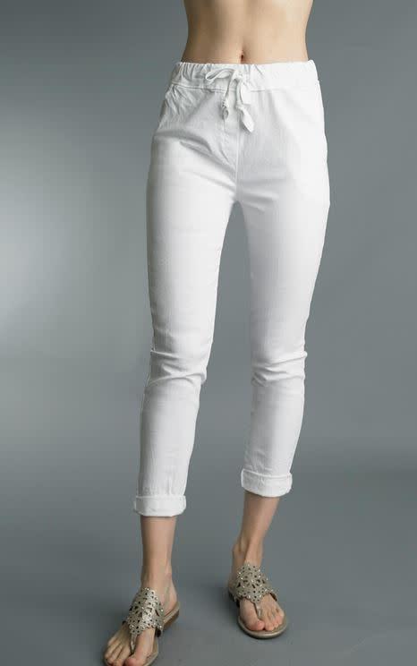 Tempo Paris Double Pocket White Pants By: Tempo Paris