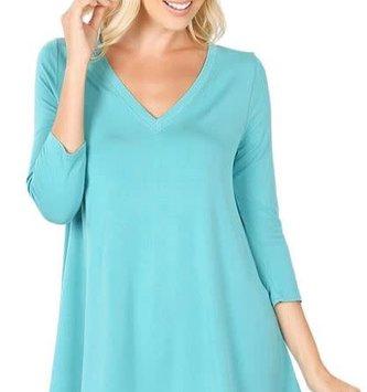 Lace Trim Tunic (4-Colors/4-Sizes)