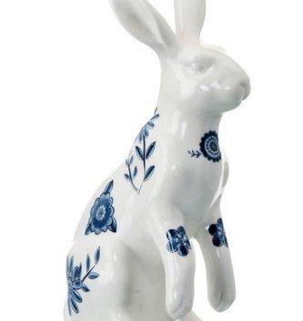 Blue Bloomsbury Sitting Bunny