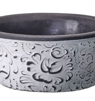 Graywashed Cement Floral Pot (2-Sizes)