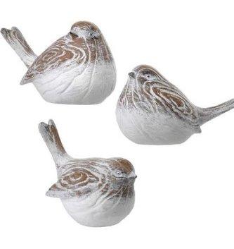 Woodgrain Carved Bird (3-Styles)