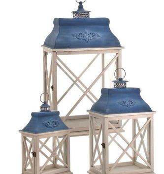 Blue Bloomsbury Lantern